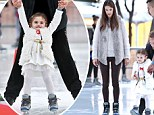 Ice ice baby: Alessandra Ambrosio takes cute daughter Anja for a fun day of skating