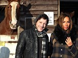 Friends of nature: Matt Cardle and Leona Lewis Leona were guests of honour as they arrived at the Hopefield Animal Sanctuary Winter Wonderland in Brentwood, Essex, on Sunday