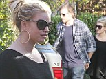 House hunting: Jessica Simpson and husband seen out for first time since news of second pregnancy broke...could be looking for bigger home for second child