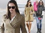 The miracle worker: Jennifer Garner grabbed morning coffee in jeans and wet hair but gussied up in skirt and high heel boots for lunch