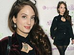 Downtown girl! Alexa Ray Joel dons black shorts and burgundy jacket to attend Animal Haven's Speakeasy NYC bash