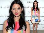 Sunshine in December: Olivia Munn steals the show at Armani dinner in Beverly Hills in candy-coloured minidress