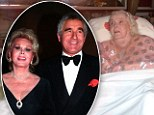 Declining health: Zsa Zsa Gabor is pictured at her Los Angeles home in August 2011, and left, with her husband Frédéric Prinz von Anhalt in 1993