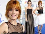 Starlets: Bella Thorne and Sarah Hyland don frocks with similar black bodices at the American Giving Awards