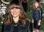 Sophia Bush debuts new fringe as she sizzles in a leather pencil skirt at charity event
