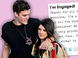 'I'm engaged!' 90210 star Shenae Grimes shares her joy as British model Josh Beech pops the question