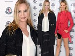 Uma Thurman covers up in baggy clothing at Art Basel bash... and has her limelight stolen by leggy Karolina Kurkova