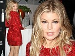 Rock That Body! Fergie shows off her slimmed-down figure in red sequinned dress at vodka party