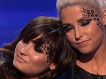 Distraught: Demi Lovato sobbed as her final contestant Cece Frey was voted off the X Factor on Thursday night
