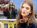 Pucker up! AnnaLynne McCord films scenes for 90210 on Santa Monica Pier and blows a cheeky kiss to camera