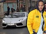 Chris Brown rents a sports car in Paris