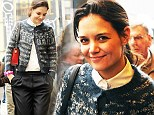 You are how old? Katie Holmes heads to work in New York wearing a grandma cardigan