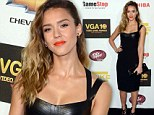 She's game: Jessica Alba and a cast of digital stars attend Spike TV's tenth Video Game Awards