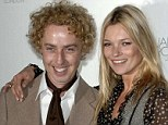 James with celebrity pal Kate Moss