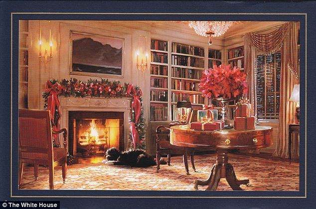 No Stranger: Bo was also a feature in the White House's 2011 holiday card, pictured