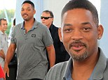 The Flesh Prince of Bel Air! Will Smith shows off a new beer belly as he attends Miami art fair