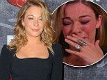 LeAnn Rimes regains her composure after tearful interview... as she wows in elegant black dress at American Country Awards