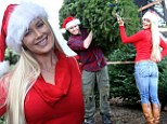A Christmas cracker! Heidi Montag sports a Santa hat (and a clinging outfit) for a day of festive tree shopping with husband Spencer