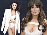 Proud of her body: Glee star Lea Michele in the January issue of Marie Claire