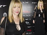 Braless Courtney Love's black dress turns see-though under the flashbulbs at Stand Up Guys screening