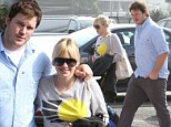 New mother Anna Faris and her leading man Chris Pratt are the image of domestic bliss on casual shopping trip