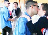Hipster PDA: Rumoured couple Lena Dunham and fun. guitarist Jack Antonoff passionately kiss outside cafe