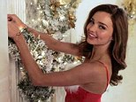 Different traditions: Miranda Kerr says that Deck The Halls isn't a popular song in Australia