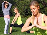 Real Housewives of Miami stars Joanna Krupa and younger sister Marta put on a yoga show in lycra