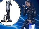 Nicole Scherzinger wears kinky boots to perform on the X Factor final