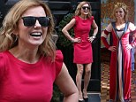 All in a day's work: Busy Geri Halliwell goes from playing dress up at Bluebell's school to glam mum at Downing Street party
