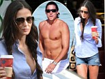 Split: Demi Moore and Vito Schnabel, both pictured in Miami, have apparently called it quits