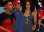 Date with Destiny: Jay-Z and red hot Beyonce grab dinner with her former band member Kelly Rowland in Miami