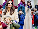 Her birthday boy! Liv Tyler grins with delight as she picks up Milo from school as he turns eight