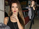 If you're sexy and you know it! Audrina Patridge strikes some cheeky poses as she struts around in skintight leather trousers