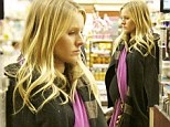 'I¿m about 367 pounds!': Pregnant Kristen Bell shows off her bump on a shopping trip after joking about her blooming baby belly