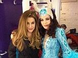 Like mother, like daughter! Lisa Marie poses up with mother Priscilla