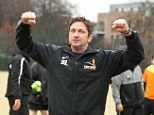 Charity man: Gerard attended a Steet League charity football 5-a-side training session in South London on Friday