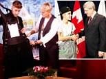 Ellen DeGeneres gifts Justin Bieber with tuxedo-style overalls after he explains why he wore casual outfit to receive award from Canadian Prime Minster