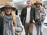 In sync in every way! Cat Deeley and Patrick Kielty coordinate their winter warmers as they enjoy romantic lunch date