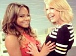Saucy stars: Christina Milian and Carrie Keagan show a HANDS ON approach to TV presenting