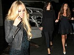 Family affair: Slavica, Tamara and Petra Ecclestone went for dinner in West Hollywood