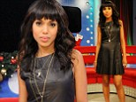 Kerry Washington, 35, cuts a VERY youthful figure in leather minidress and sky-high heels