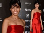 Slumdog star Frieda Pinto looks stunning in vintage Valentino as part of Green Carpet Challenge