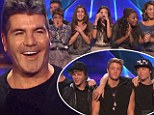 'I said I believe in miracles!' Simon Cowell's shock as X Factor girl group Fifth Harmony sings into the finals... but boy band Emblem3 is sent home