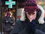 Doctor Flu? Under the weather Matt Smith sneezes his way to the pharmacy to stock up on medicine