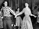 The Queen and Prince Philip dancing at a fancy dress in Ottawa in 1951