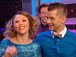 Top of the leader board: Kimberley Walsh and her partner Pasha were awarded a top score of 40 points on Saturday night's Strictly Come Dancing show