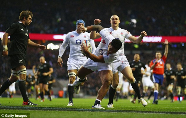 Showmanship: Manu Tuilagi made two tries and scored one