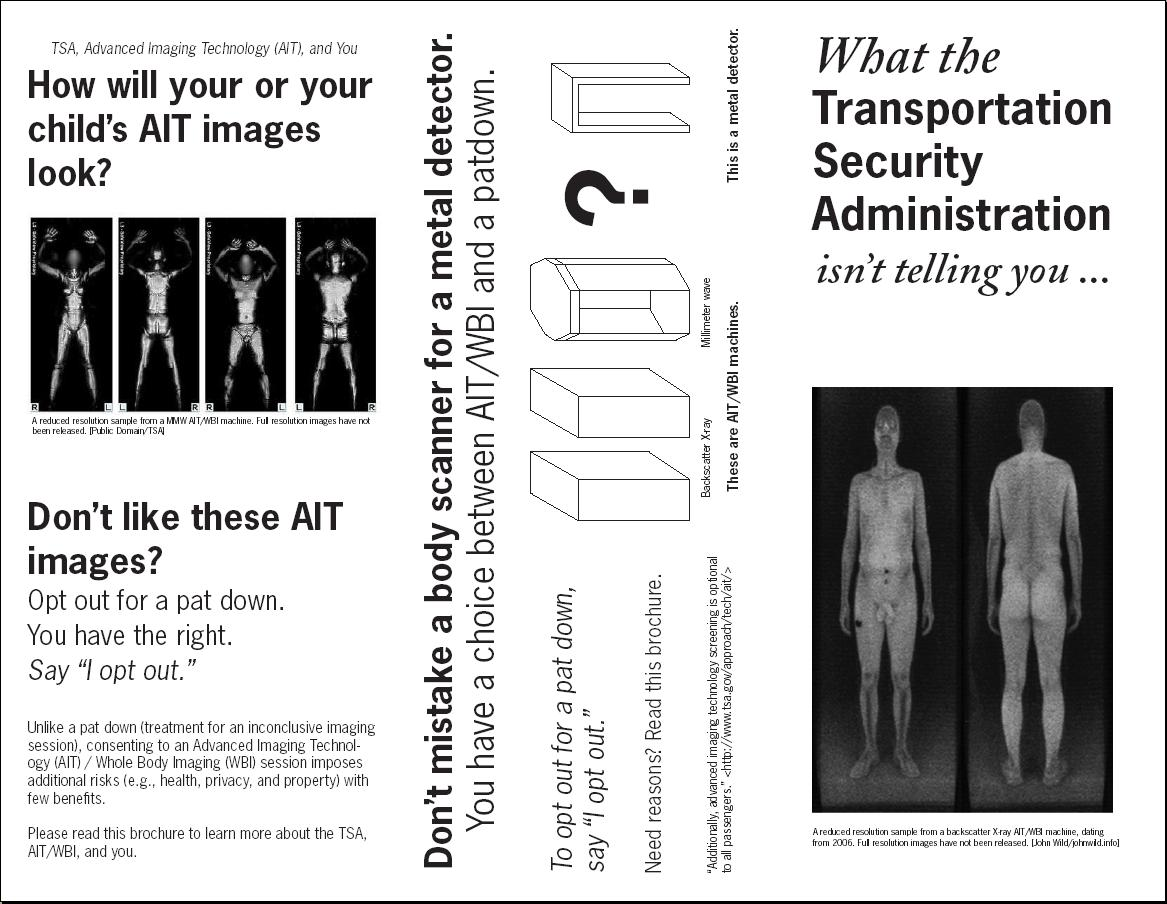 Image Know Your Rights Brochure What the TSA isn't telling you dontscan.us page1