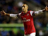 The main man: Walcott wants to be utilised as a No 9